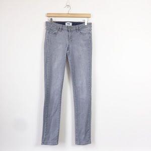 Paige | Gray Skyline Skinny Jeans Size 28
